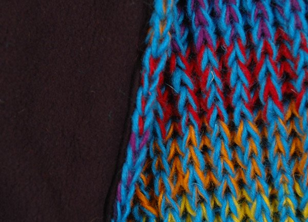Turquoise Toned Hand Knitted Woolen Warm Neck Scarf