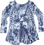 High Wave Blue Tie Dye All Season Cardigan