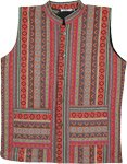 Sleeveless Boho Cotton Unisex Vest with Fleece Lining