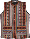 Fleece Lined Hippie Winter Unisex Vest with Front Pockets