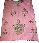 Kobi Pink Shawl with Embroidery