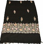 Black Shawl with Embroidery