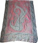 Pink Paisley Challis Shawl Stole with Sequin