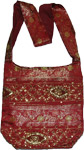 Red Ethnic Handbag Purse with Sequin