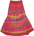 Valencia Pink Cotton Fish Cut Junior Skirt