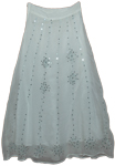 White Fairy Georgette Sequin Skirt