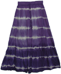Indigo Bleed Boho Style Long Skirt