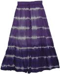Indigo Bleed Boho Style Long Skirt