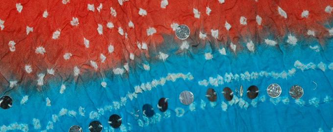 Red Blue Hot Bohemian Sequin Skirt
