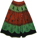 Elements Boho Style Skirt with Sequins