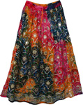 Lavani Peasant Sequin Long Skirt