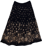 Ebony Long Sequin Skirt