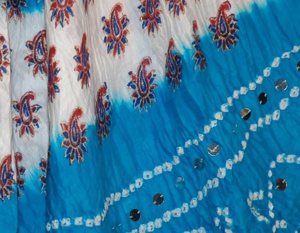 Venice Blue Bohemian Sequin Long Skirt