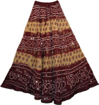 Cocoa Bean Bohemian Sequin Long Skirt