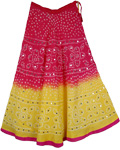 Charming Damsel Ethnic Cotton Tie Dye Skirt
