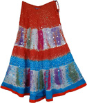 Bohemian Hollywood Tie Dye Long Skirt