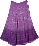 Classy Violet Purple Tie Dye Long Skirt