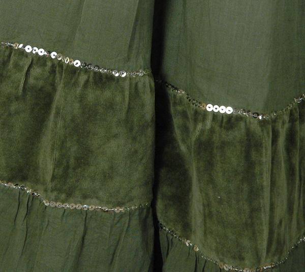 Dream Fashion Long Skirt Green