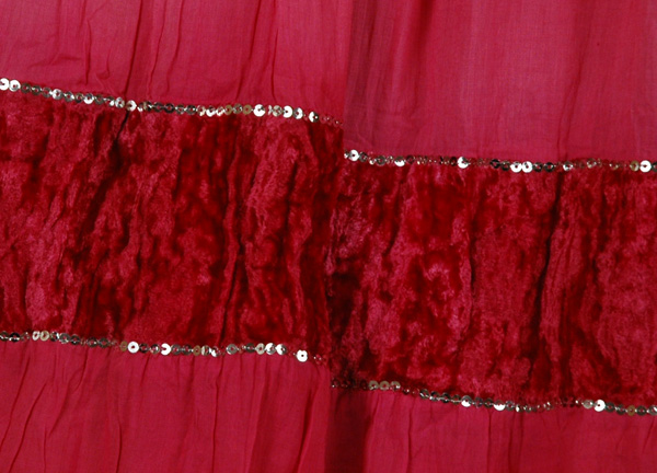Royalty Fashion Long Skirt Pink