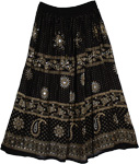 Zodiac Black Long Sequin Skirt