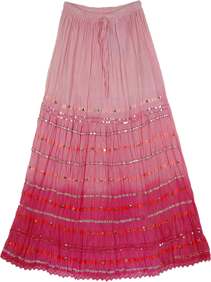 6de9958028 Pink Ethnic Fashion Long Skirt - Sequin-Skirts - Sale on bags ...