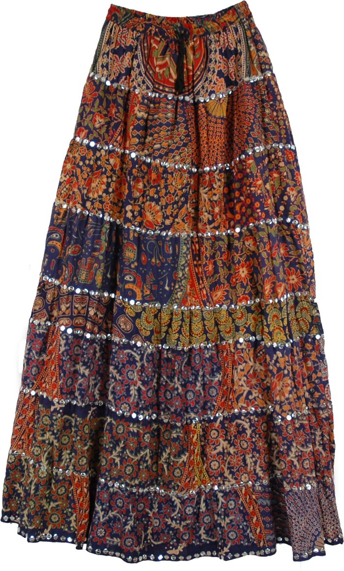Boho Patchwork Long Skirt Extra Large - Sequin-Skirts - Sale on bags skirts jewelry at ...