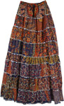 Patchwork Boho Skirt Big Tall - XXL