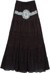 Black Fashion Tiara Skirt