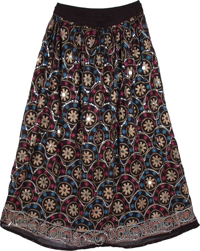 Stylish Banjaran Sequins Skirt, Sparkle Moods Sequin Long Skirt