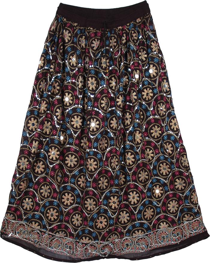 Stylish Banjaran Sequins Skirt, Sparkle Moods Sequin Long Skirt