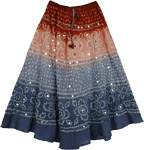 Hott Tie Dye Sequin Long Skirt