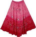 Pink Aesthetics Bohemian Designer Skirt 34L