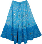 Two Shades Blue Tie Dye Skirt [3169]