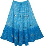 Blue Belle Sparkle Blue Long Skirt 34L