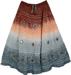 Luscious Style Tie Dye Long Skirt 33L