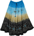 Celestial Sparkle Tie Dye Long Skirt 35L