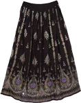 Purple Grace Black Long Skirt