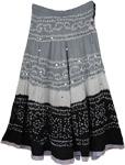 Oslo Gray White Black Tie Dye Skirt