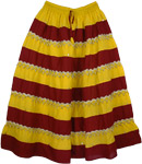 Gypsy Boho Panel Festival Long Skirt