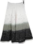 White Gray Black Sequin Skirt