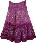 Claret Hues Tie Dye Skirt