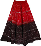 Guardsman Red Brown Tie Dye Skirt