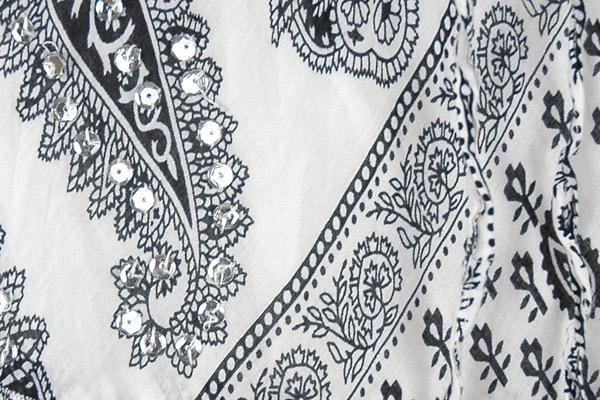 Seychelles Black White Printed Sequin Skirt