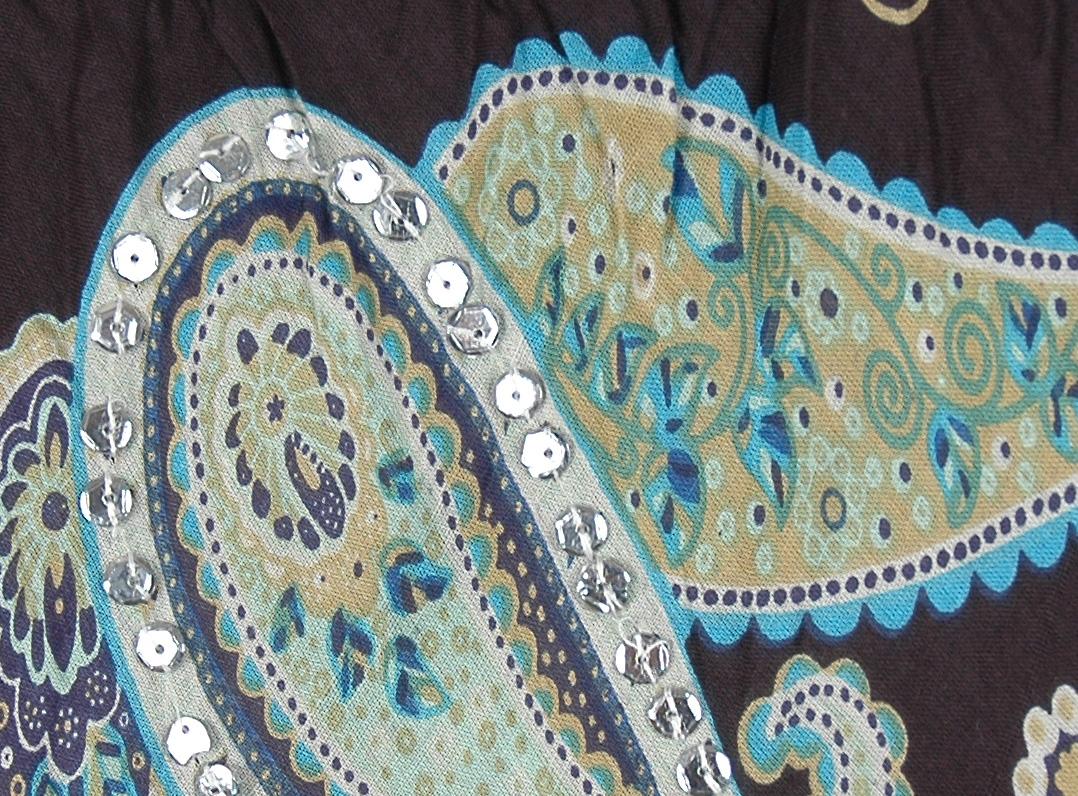 Sundance Magic Ethnic Sequin Cotton Skirt