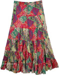 Colorful Skirt with Paisley Print and Sequins