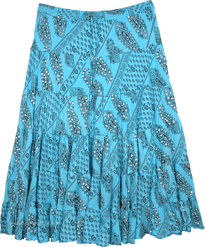 d1250d11d5 Sequin decoration on Long Cotton and Tie Dye Skirts to give a Bohemian,  Ethnic and Fashionable look to the skirts, as also tunics, dresses, pants,  etc.