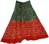 Tobasco Boho Tie Dye Sequin Skirt