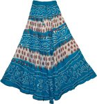 Venice Blue Bohemian Sequin Long Skirt