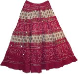 Vin Rouge Bohemian Sequin Long Skirt
