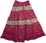 Vin Rouge Bohemian Sequin Long Skirt